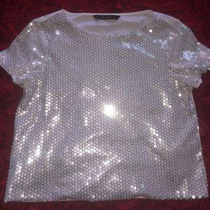 Zara sequin blouse